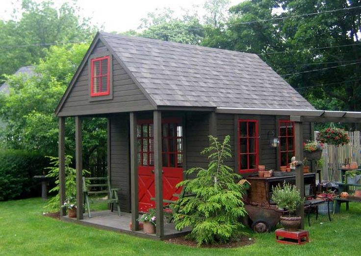 Backyard retreats decoration ideas for backyard landscaping design plans with building shed for backyard garden functional accessories