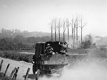 Australian truck near Hill 63 during a bombardment of ANZAC batteries in Messines.