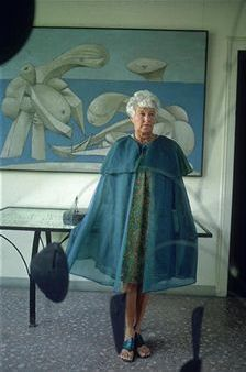 Peggy Guggenheim at home in the Palazzo Venier dei Leoni - previously inhabited by another lady of style, the Marchesa Casati