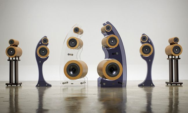 Stylish Speakers stylish courbe speakers play different frequencies through