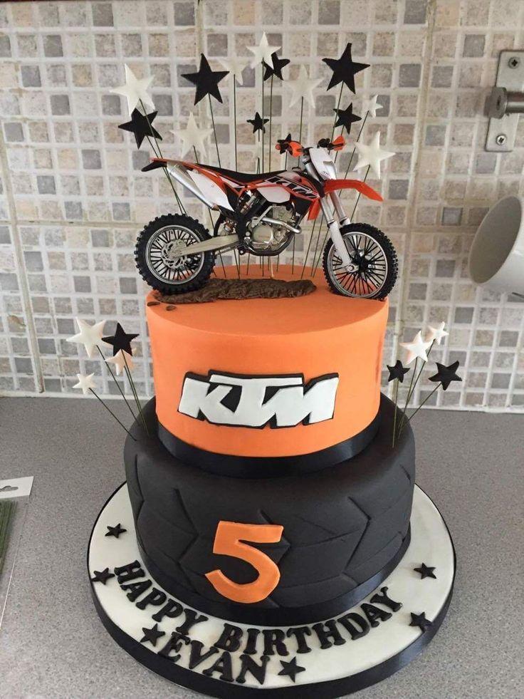 KTM themed birthday cake