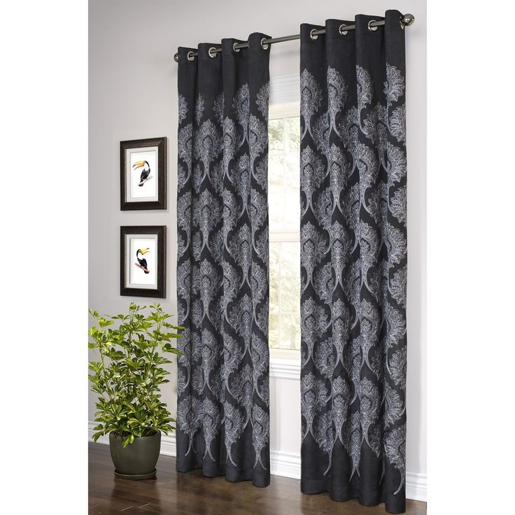 80 best curtains images on pinterest blinds bedroom and for Black and white curtain designs