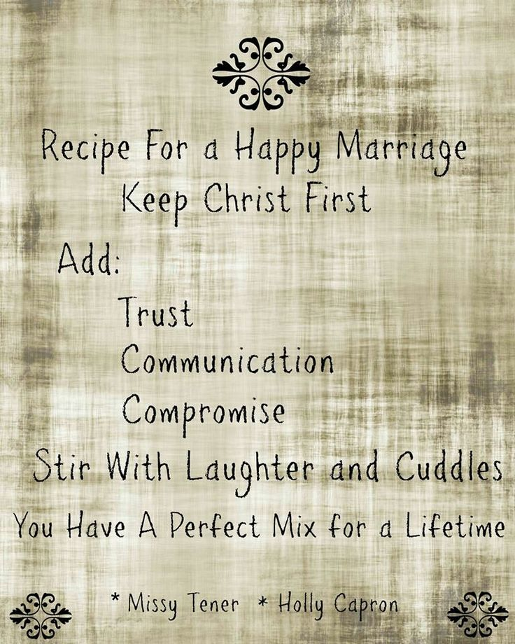 Recipe For A Happy Marriage Love Amp Marriage Recipe