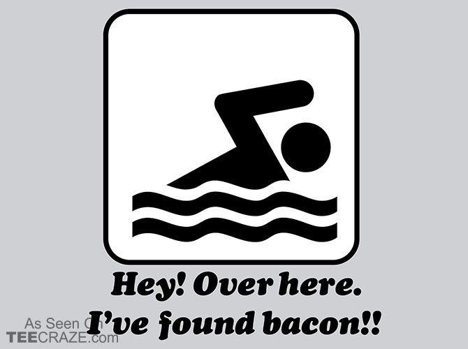I've Found Bacon T-Shirt - https://teecraze.com/ive-found-bacon-t-shirt/ -  Designed by Snorg Tees    #tshirt #tee #art #fashion #TCRZ #clothing #apparel #bacon
