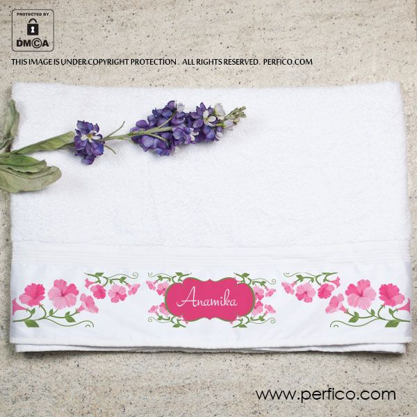 Pretty in Pink © Personalized Towel for Her