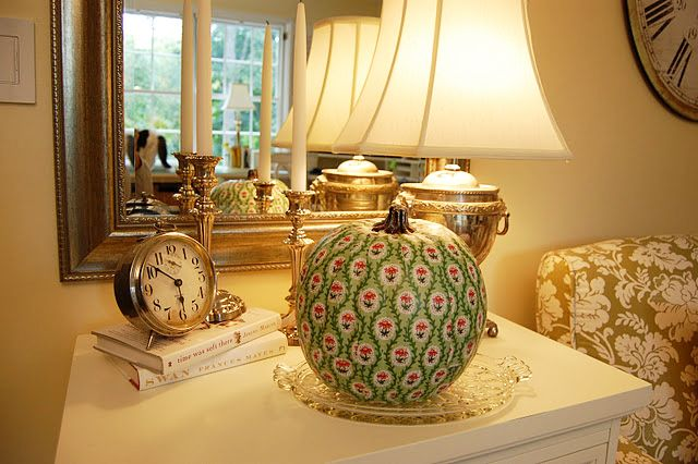 Decoupage a Pumpkin Country Living Knock-off