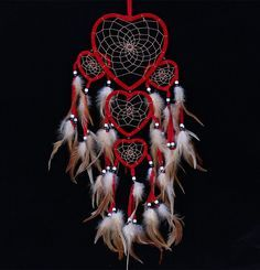 Layered Heart Shaped Dream Catcher