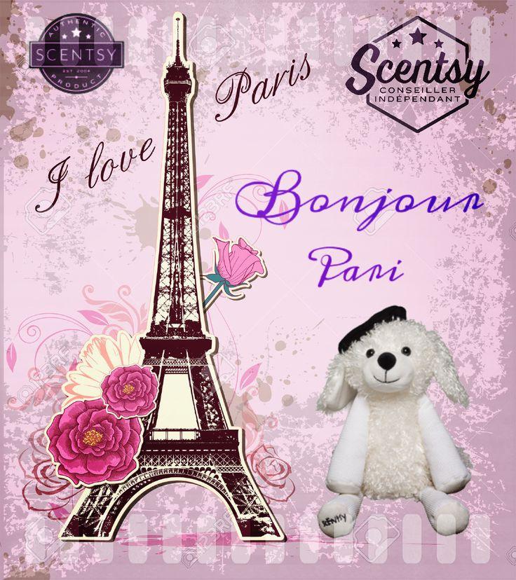 Voyagez dans la Ville Lumière et dites bonjour à notre toute nouvelle peluche parfumée Pari la chienne caniche.Un béret français agrémente ses boucles .