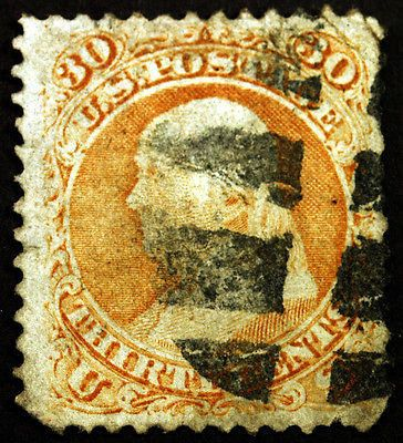 #71 30c Orange 1861 Used – Classic Summer Stamp Sale Visit LittleArtTreasures.com or http://stores.ebay.com/Little-Art-Treasures