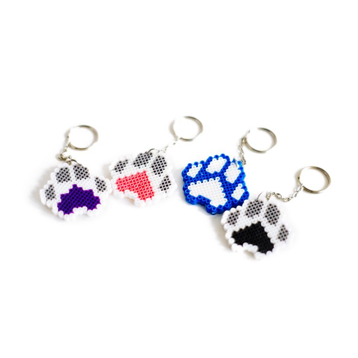 Handcrafted Pawsome Peppy Paws Key Chains! #Dogs #Paws #Keychains #Cute