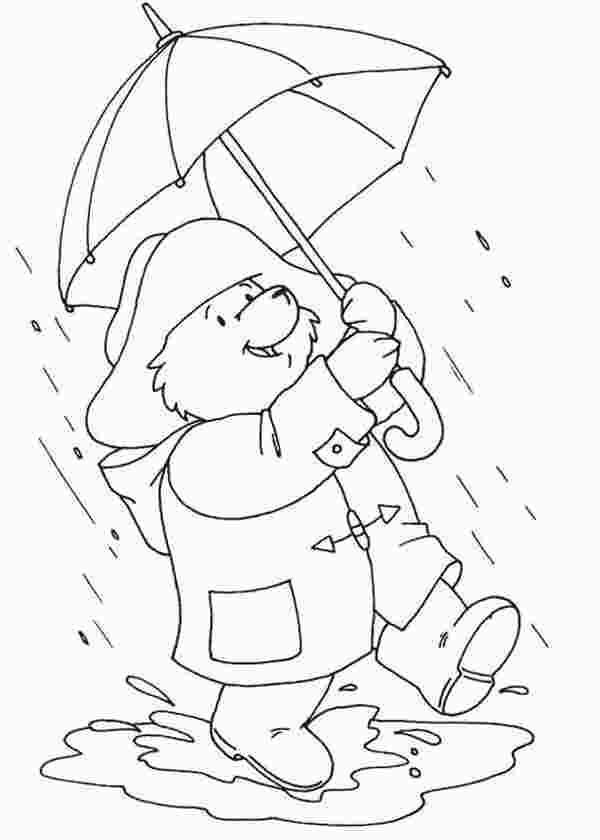 Kindergarten Rainy Day Coloring Pages Coloring Pages Bear