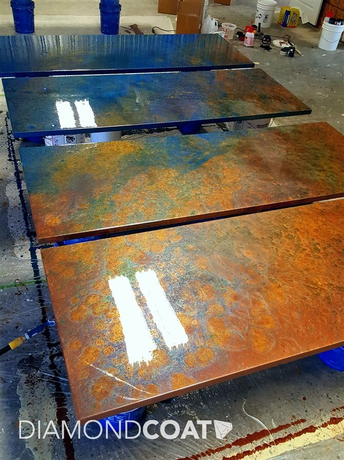 42 best diy images on pinterest epoxy countertop epoxy for Creative table tops