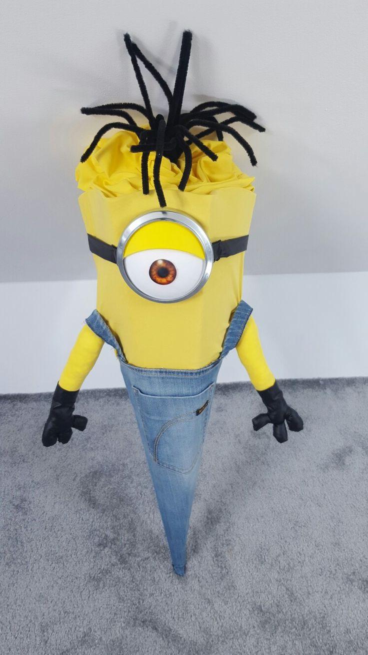 Schultüte Minions selbst gemacht mit Carina