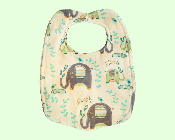 This Elephant bib is the perfect complement to any outfit. This bib is very soft and absorbent with a layer of towel, it was handmade with love in Australia
