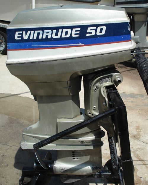Evinrude outboards brand 50hp evinrude outboard remote for A and b motors