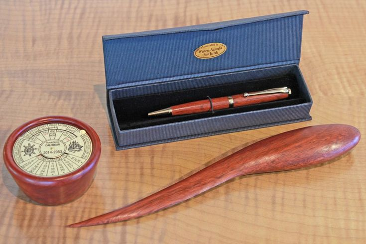 The Jarrah Desk Combination includes a Jarrah 40 Year Calendar, an Organic Jarrah Letter Opener and a Jarrah ball-point pen. Functional and attractive, these items combine to make a perfect gift for anyone who would like to personalise their desk with some warm, natural wood.    For more information on any of these products please click any of the links above.