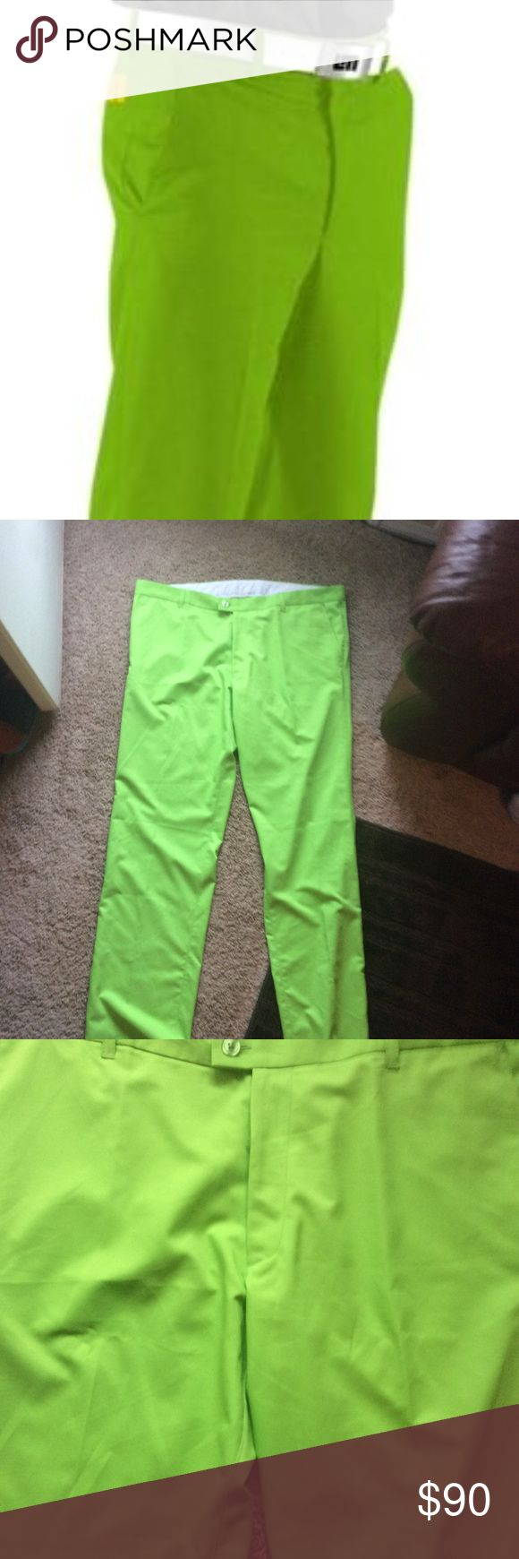 Electric Green Loudmouth Golf Pants by John Staley Wick Wear/Casual Fit, perfect for a hot day 42x34L No flaws or issues with pants, in excellent condition! LOUDMOUTH Pants