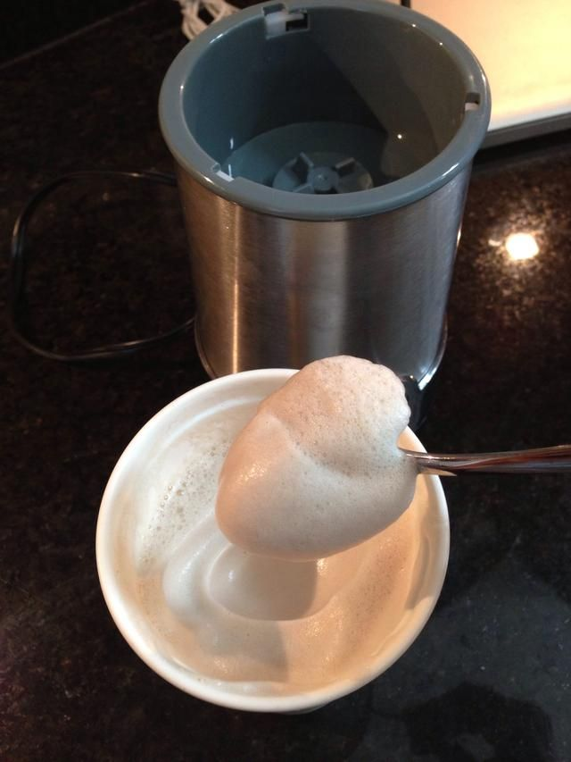 To make extra foam, you can blend keep blending it over and over