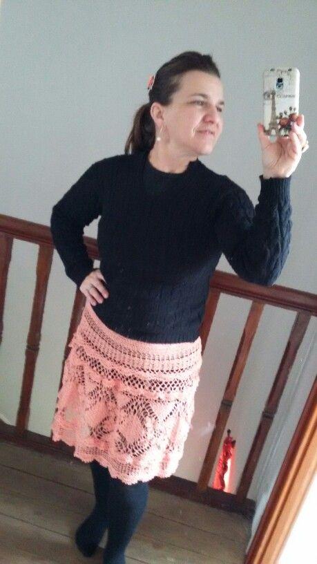 Saia de crochet para o verão