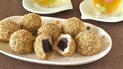 Baked Sesame Balls (cook boiling water first)