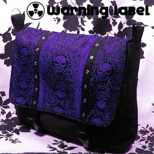 Gothic Skulls Laptop Messenger Bag