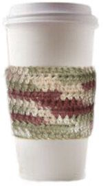 Crochet coffee cup sleeve. Any color you want, as short or tall as you want! I love this! Who doesn't sometimes wish they had a sleeve for their burning hot coffee/tea cup? :-)