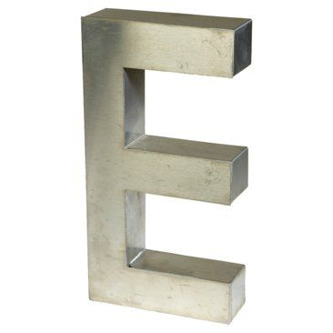 Check out this item at One Kings Lane! Aluminum Marquee Letter E