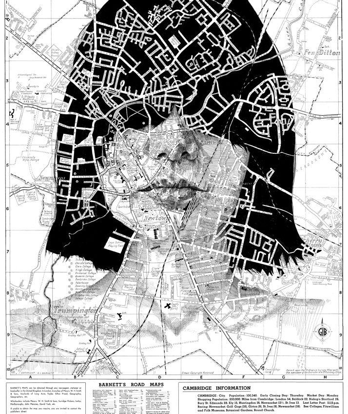Human Geographies by Ed Fairburn | http://www.yatzer.com/Human-Geographies-maps-Ed-Fairburn