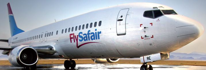 Flysafair plane - airline is launching low cost flights between Johannesburg and Cape Town from end 2013