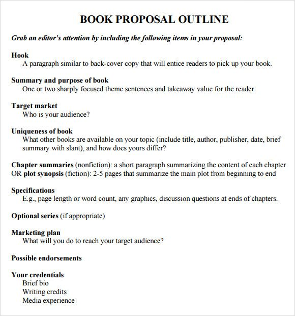 writing a novel proposal template