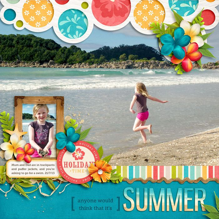 Once Upon a Summer: Chilling by Kristin Cronin-Barrow Go Big: Vol 1 Template by Nettio Designs Museo Slab font