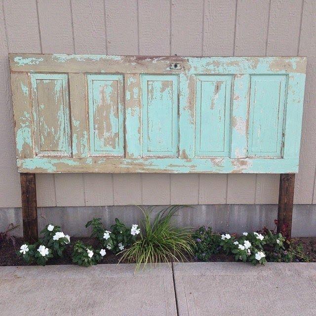 Old Door turned into a Headboard!