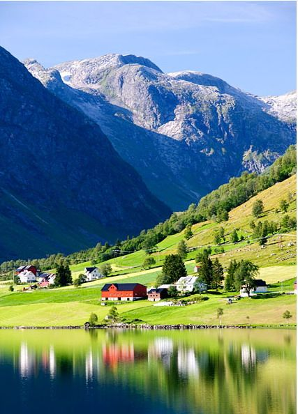 Fjords, Norway. http://reversehomesickness.com/europe/most-beautiful-place-on-earth-norway/