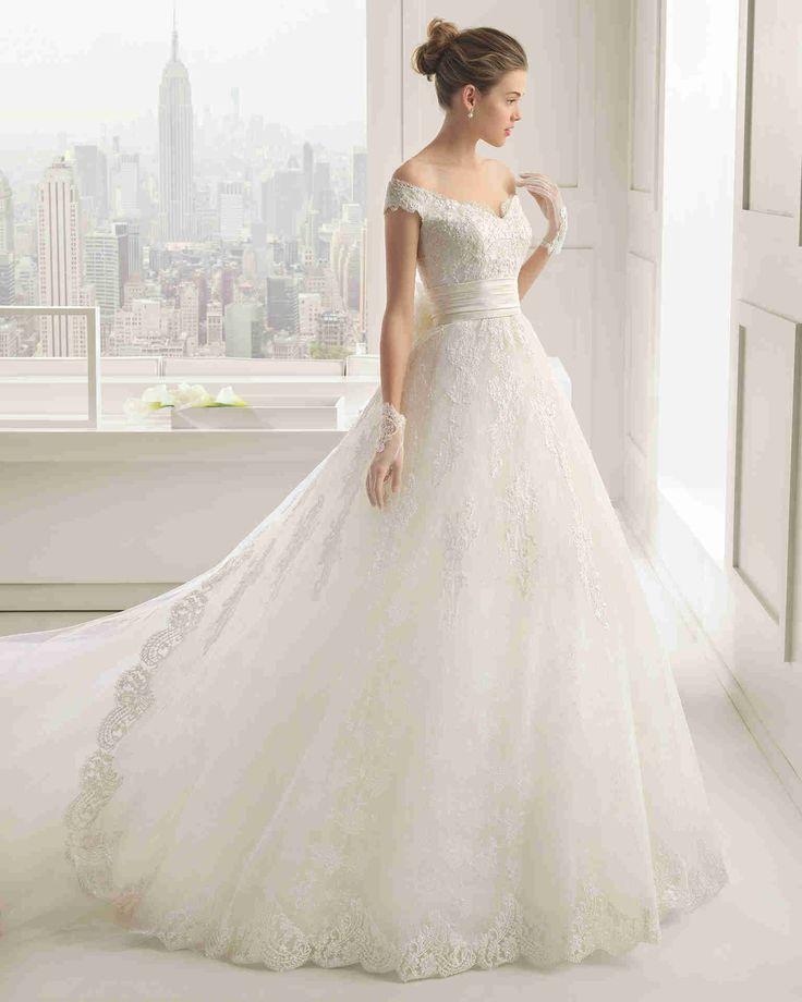 Dathybridal #優雅なオフショルダー ノースリーブ ボールガウン 花嫁のドレス #ウェディングドレス Hro0087