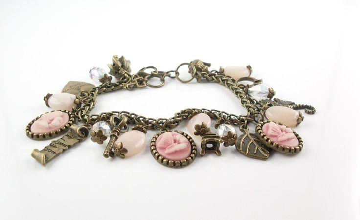 Bettelarmbänder - Bettelarmband*Vintage*Rosenquarz*370 - ein Designerstück von tinas_schmucktruhe bei DaWanda