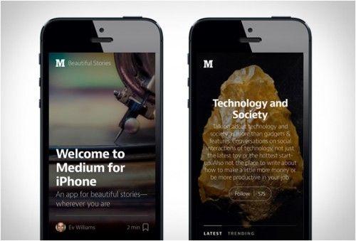 MEDIUM APP - http://www.the-tech-blog.com/medium-app/
