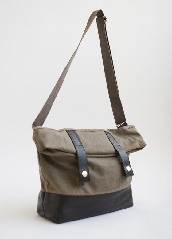 Waxed Canvas Grand Army Messenger Bag $88