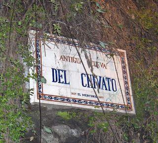 "Placa de la famosa ""Cueva del Chivato""                Fuente:  Fila Naval   ---   Im.059"