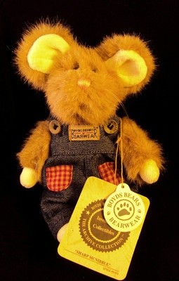 """Retired Boyds Bears """"Sharp McNibble"""" Mouse With Tags"""
