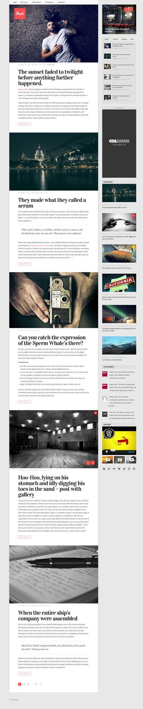 Blogist - Personal Blog theme  #wordpressthemes #responsivedesign #preimumwordpessthemes