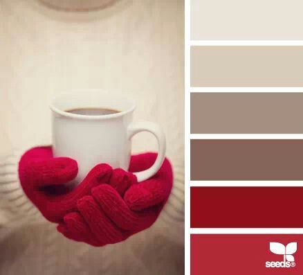 Winter love of coffee colors!!! Using this red as the sofa colour is gonna give so many different options ❤️