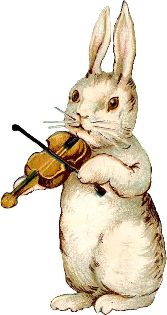vintage easter images   : Vintage Easter Musical Bunnies - free for personal use #vintage ...