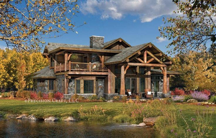 Modular home barn style homes throughout the for Log barn homes