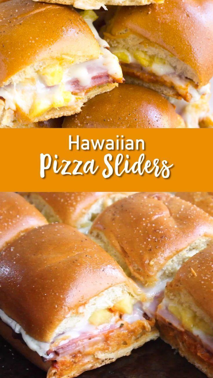 Hawaiian Pizza Sliders Easy Peasy Meals Recipe Recipes Fun Easy Recipes Easy Slider Recipes
