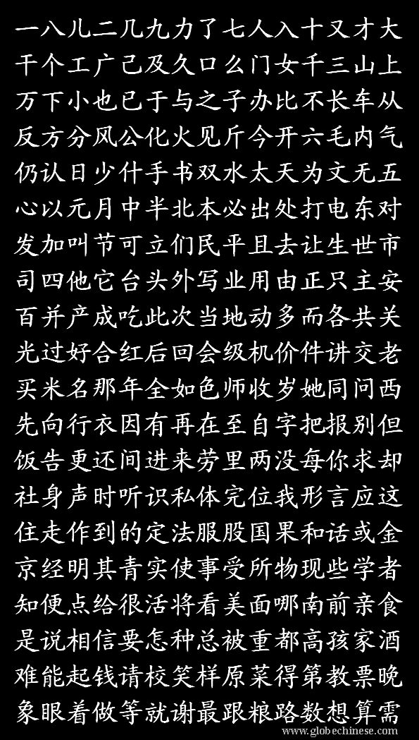 300 most common Chinese Characters