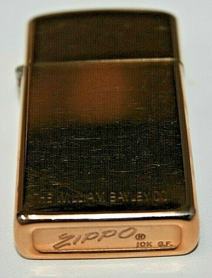 Ebay Sponsored Vintage Zippo Lighter 10k Gold Filled Etched The William Bayley Co 03chb 10k Gold Zippo Lighter Zippo