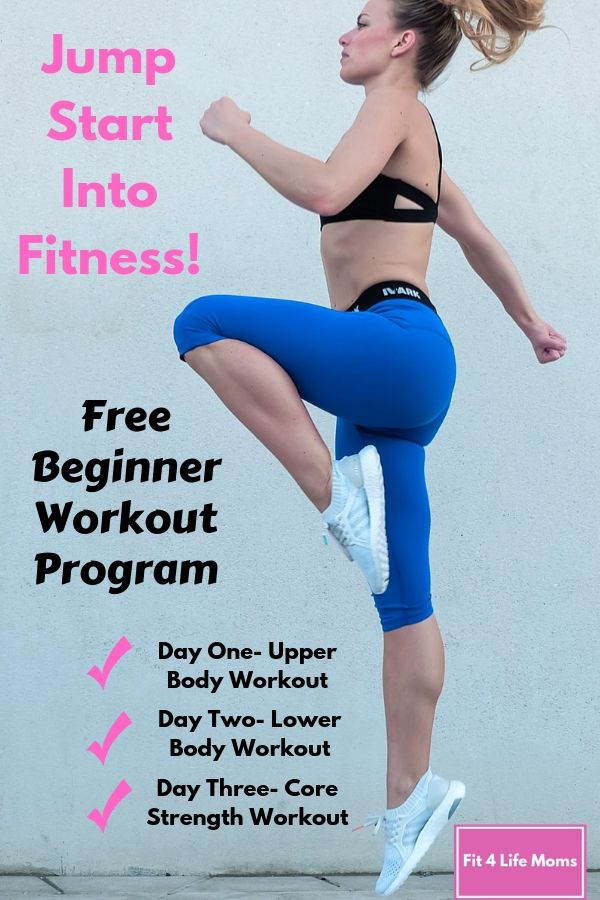Jump Start Into Fitness Free Beginner Workout Program Beginner Workout Program Lower Body Workout Free Workout Programs