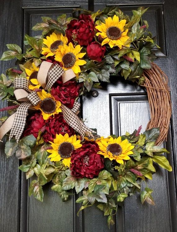 Fall Wreaths For Front Door Fall Wreath Front Door Wreath Autumn Wreath Thanksgiving Wrea Thanksgiving Wreaths Fall Wreath Everyday Wreath
