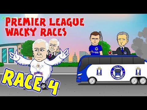 RACE 4!!! Premier League Wacky Races (Chelsea 1-2 Crystal Palace Liverpool 0-3 West Ham goals) - YouTube