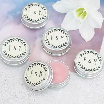 Personalised Lip Balm Wedding Favours